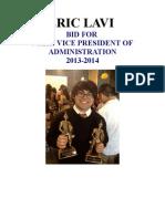 VP Of Admin. Eric Lavi