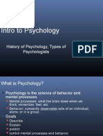 History - Types of Psychologists