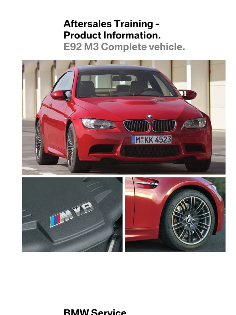 BMW M3 Aftersales Training Information | Piston | Internal