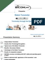 Glaucoma Eye Test aka Tonometer Diaton by BiCOM Inc Presentation