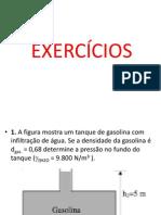 EXERCÍCIOS MANOMETROS