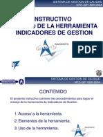 Instructivo Manejo de La Herramienta Indicadores de Gestion (Importante)