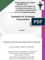 Seminario Tecnologia Farmacêutica