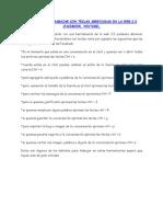 Manual Para Trabajar Con Teclas Abreviadas en La Web 2.0