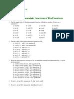 XVII – Trigonometric Functions of Real Numbers