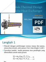 Analisis Thermal Design Shell & Tube Heat Exchanger metode LMTD dan metode e-NTU