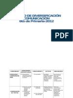 Diversificacion Sexto de Primaria Abril Comunicacion