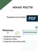 Komunikasi Politik Dan Opini Publik