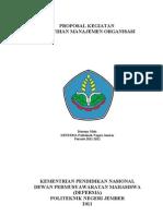 Proposal untuk kegiatan Management Organisasi