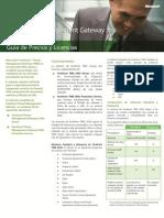 TMG Guia Precios y Licencias 2.0 Web