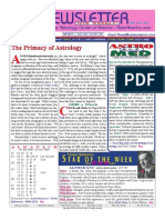 ASTROAMERICA NEWSLETTER DATED APRIL 02, 2013