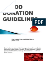 BLOOD DONATION GUIDELINES