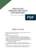 Antoniovictor Arquivologia Completo 048 Legislacao Arquivistica
