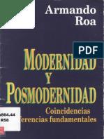 Roa Armando Modern Y Posmodernidad