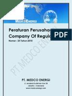 Peraturan Perusahaan Pt Medco Energi