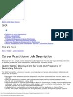 Career Practitioner Job Description _ Member Lounge