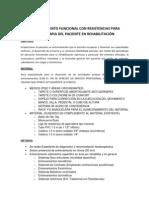 ENTRENAMIENTO FUNCIONAL CON RESISTENCIAS PARA FISIOTERAPIA DEL PACIENTE EN REHABILITACIÓN