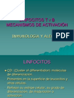 ACTIVACIÓN DE LINFOCITOS T Y B