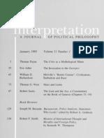 Interpretation, Vol 11-1