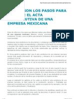 Cuáles son los pasos para obtener el acta constitutiva de una empresa mexicana