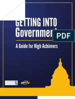 Getting Into Government a Guide for High-Achievers