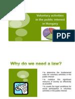 Voluntary Activities in the Public Interest In