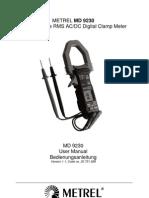 MD 9230 Clampmeter Manual
