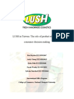 Projects_MR(Special Topics in Marketing Research)_LUSH in Taiwan the Role of Product Attributes in Consumer Decision Making_LUSH Final
