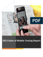 Mobile Testing Report 2013