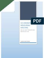 Co-Ordinate Measuring Machine Report
