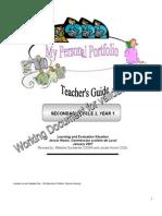 Personal Portfolio Teacher s Guide