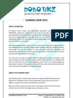 KIDOBOTIKZ Summer Camp 2013