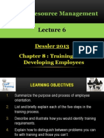 HRM Dessler 08 Training and Development
