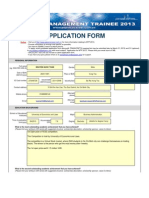 Application Form MTP 2013 External
