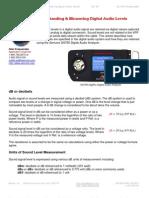 Understanding & Measuring Digital Audio Levels