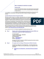 Pharmacist Licensure in BC