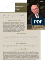 Column Willem van den Eijkel in Intobusiness maart 2013