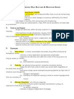 Chapter 7 - Adverse Drug Reaction and Medication Errors