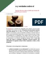 Cinco Mitos y Verdades Sobre El Chocolate