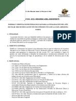 FORMATOS DE INFORMES DE FIN DE AÑO 2012