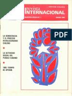 Revista Internacional (Chile) Enero de 1985