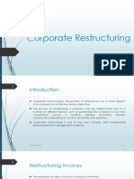 BS II- Corporate Restructuring