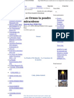 Les Ormus La Poudre Miraculeuse - LA TERRE ET SES ENIGMES