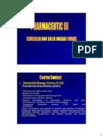 Semisolid Course 2