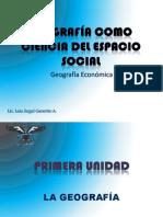 GEOGRAFÍA COMO CIENCIA DEL ESPACIO SOCIAL