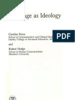 Kress & Hodge_1979_1981_Language & Ideology_1-14_Escopo Da Linguistica