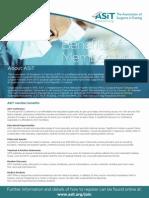 ASiT Benefits of Membership Flyer