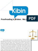 Kibin Pitch Deck