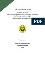 Basis Gigi Tiruan Akrilik