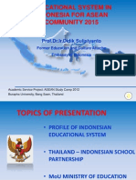 EDUCATIONAL SYSTEM IN INDONESIA FOR PREPARATION ASEAN COMMUNITY 2015